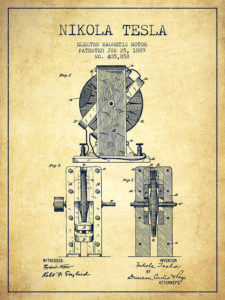 nikola-tesla-electro-magnetic-motor-patent-drawing-from-1889-v-aged-pixel