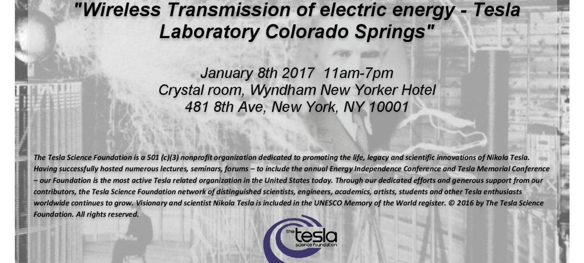 "President/ Founder Nikola Loncar about Tesla Science Foundation – ""Wireless Transmission of Electric Energy"" 2017"